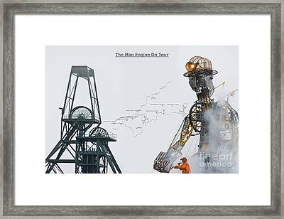 The Man Engine On Tour Framed Print by Terri Waters