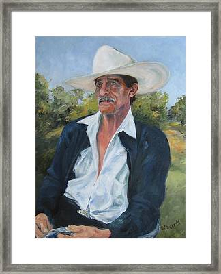 The Man From The Valley Framed Print by Connie Schaertl