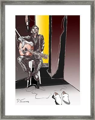 The Man In Black Framed Print by David Fossaceca