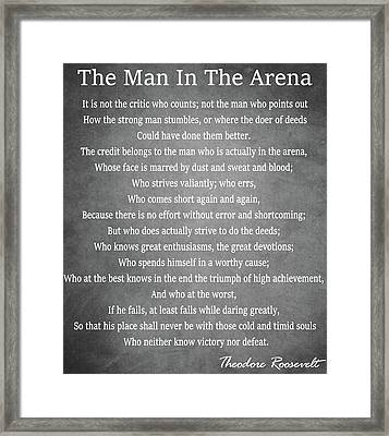 The Man In The Arena Framed Print by Dan Sproul