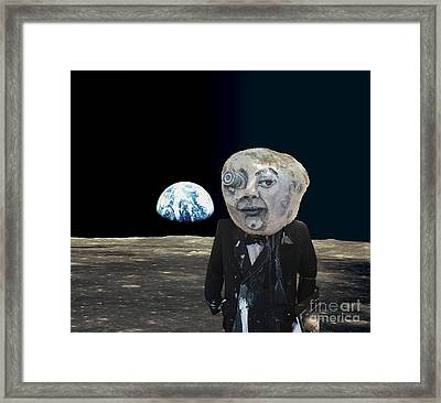 The Man In The Moon Framed Print by Rafael Salazar