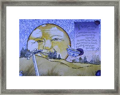 The Man In The Moon Framed Print by Victoria Heryet