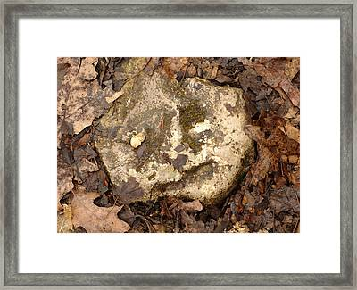The Man In The Rock Framed Print