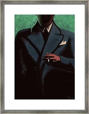 The Man In The Shadows Framed Print