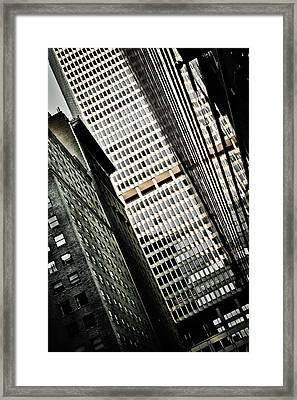 The Man Made Abstract Framed Print by Irvin Kelly