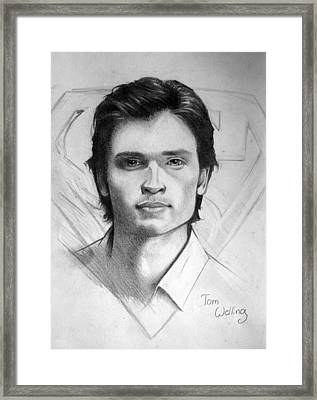The Man Of Steel Framed Print