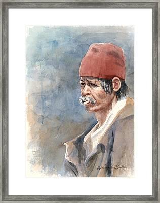 The Man On The Street Framed Print