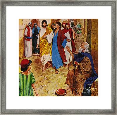 The Man Who Could Not See Framed Print