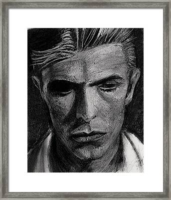 Framed Print featuring the painting The Man Who Fell To Earth 1976 by Jarko Aka Lui Grande