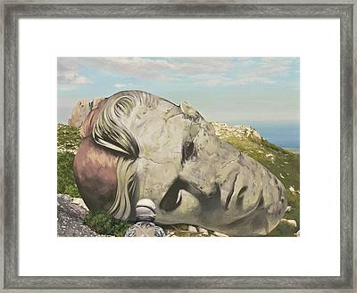Framed Print featuring the painting The Man Who Fell To Earth by Scott Listfield