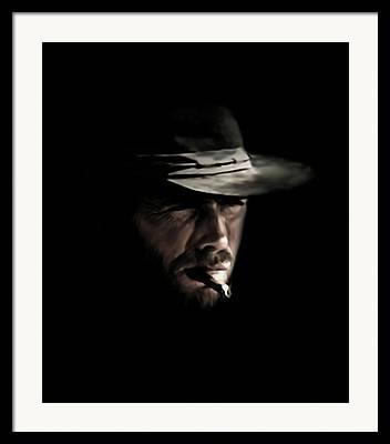 Cowboy Digital Art Framed Prints