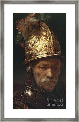 The Man With The Golden Helmet Framed Print by Rembrandt