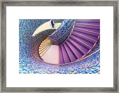 The Man With The Purple Bag Framed Print by Gerard Jonkman