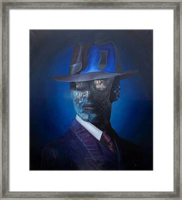 Framed Print featuring the painting The Manager by Obie Platon