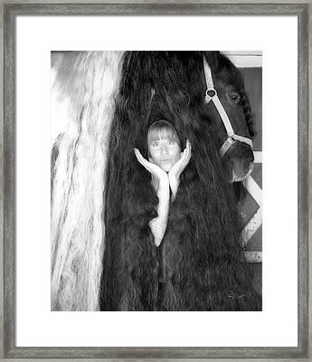 The Mane Event Framed Print