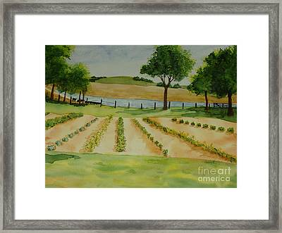 Framed Print featuring the painting The Mangan Farm  by Vicki  Housel