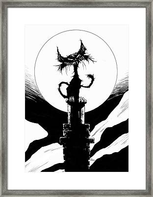 The Mangy Mog Framed Print by Paul Davidson