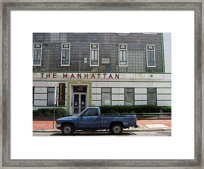 The Manhattan Framed Print by Sean Owens