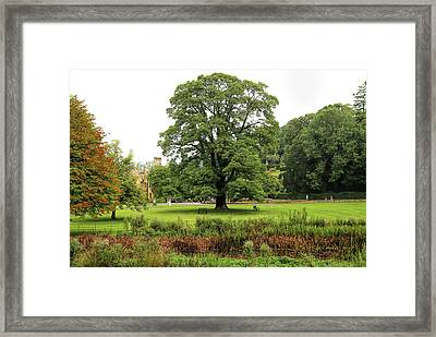 Framed Print featuring the photograph The Manor Castle Combe by Michael Hope
