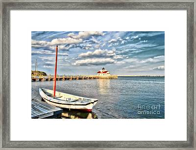 The Manteo Waterfront Framed Print