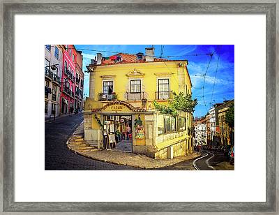 The Many Colors Of Lisbon Old Town  Framed Print by Carol Japp