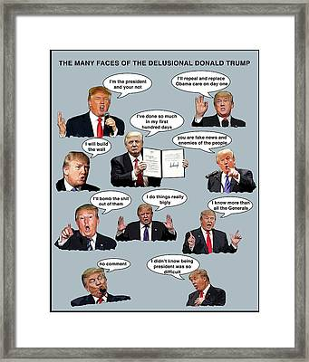 The Many Faces Framed Print