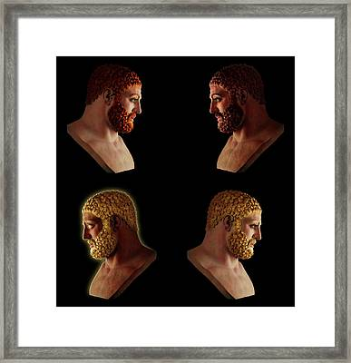 Framed Print featuring the mixed media The Many Faces Of Hercules 2 by Shawn Dall
