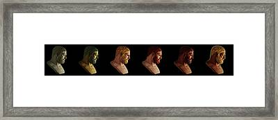 Framed Print featuring the mixed media The Many Faces Of Hercules by Shawn Dall