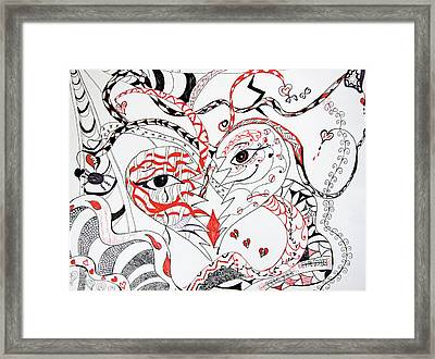 The Many Faces Of Love Framed Print by Daphne Sampson