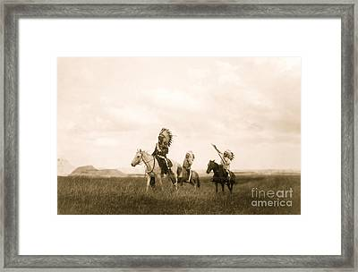 The March Of The Sioux Framed Print by American School