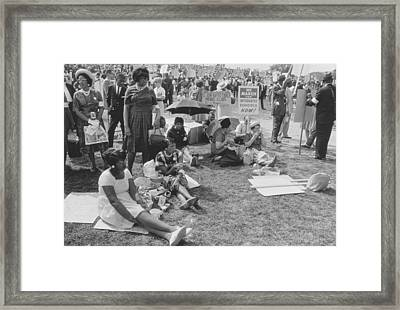 The March On Washington   At Washington Monument Grounds Framed Print by Nat Herz
