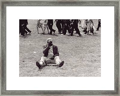 The March On Washington   Beginning The March Framed Print by Nat Herz