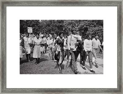 The March On Washington  Freedom Walkers Framed Print