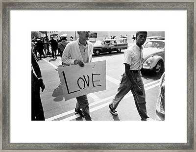 The March On Washington   Love Framed Print by Nat Herz