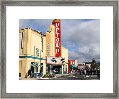 The Marching Band At The Uptown Theater In Napa California . 7d8922 Framed Print