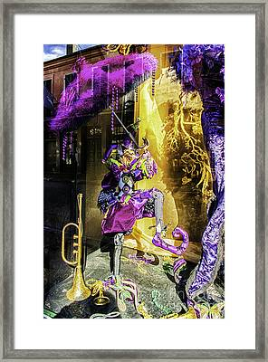 The Mardi Gras Jester Framed Print