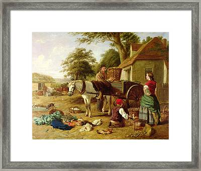 The Market Cart Framed Print