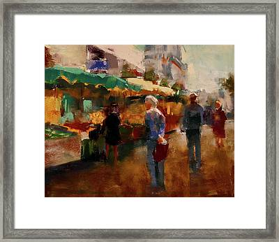 The Market Framed Print by David Patterson