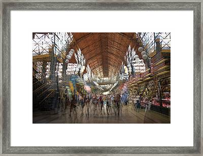 Framed Print featuring the photograph The Market Hall by Alex Lapidus