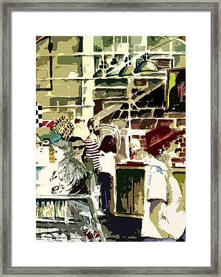 The Market Framed Print by Mindy Newman