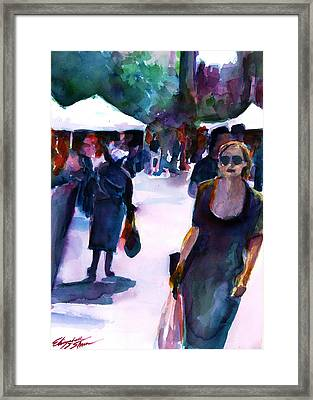The Market No. 1 Framed Print