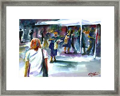 The Market No. 2 Framed Print by Elizabeth Shrum