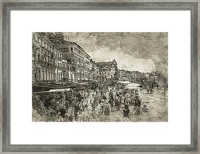 The Market Place Framed Print by Georgiana Romanovna