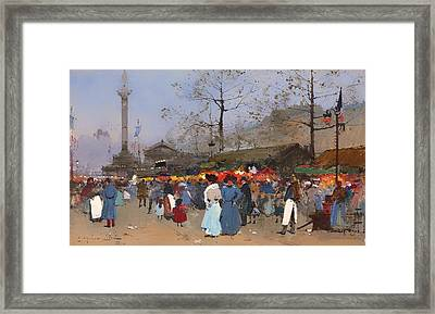 The Market Place - Paris Framed Print by Mountain Dreams