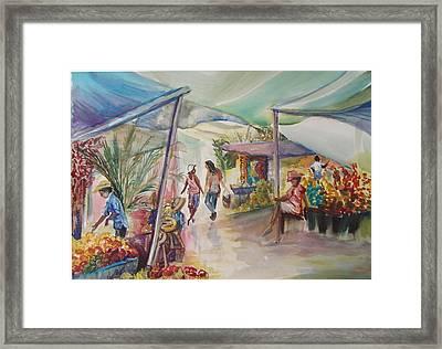 The Market Framed Print by Shelley Capovilla
