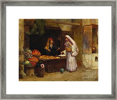 The Market Stall Framed Print by Rudolphe Ernst