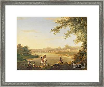 The Marmalong Bridge Framed Print by William Hodges