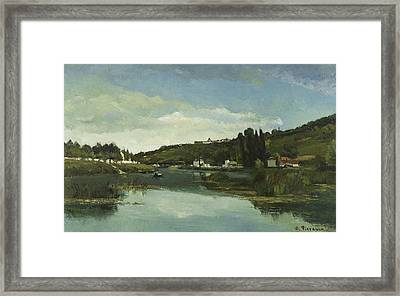 The Marne At Chennevieres Framed Print by Camille Pissarro