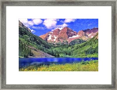 The Maroon Bells Framed Print by Dominic Piperata