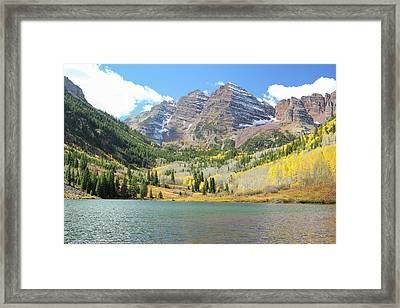 The Maroon Bells 1 Framed Print by Eric Glaser